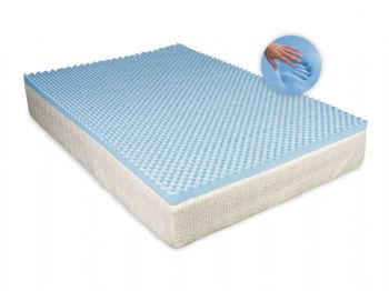 CoolBlue Egg Profiled Memory Foam Topper